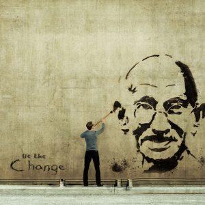 Gandhi, icône de la Non-violence